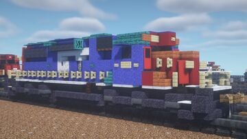 """Canadian National - EMD SD38 """"Grand Trunk Western Leased Power"""" Minecraft Map & Project"""