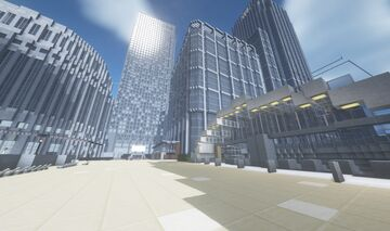 Canary Wharf Underground Station 1:1 Minecraft Map & Project