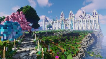 Aerial - High Elves City - Fables and Fantasy Minecraft Map & Project