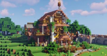 Spanish, middle terranean themed starter house Minecraft Map & Project