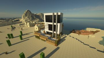 House with Amazing Water Slide Minecraft Map & Project