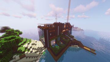 Huge Modern Mansion | 1.16.5 Minecraft Map & Project