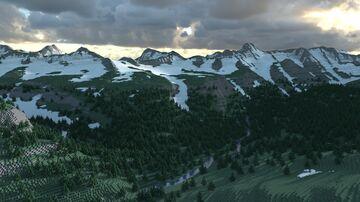 Glacier National Park (Version 3.0, 6k x 6k) Minecraft Map & Project