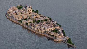 île de la Cité, Paris 1:1 recreation Minecraft Map & Project