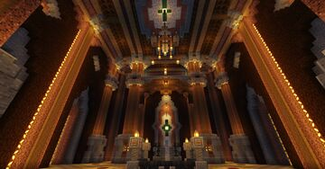 Great Hall of the Charged Creeper Minecraft Map & Project