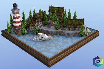 Lighthouse Village Hub | 1.8+ Minecraft Map & Project