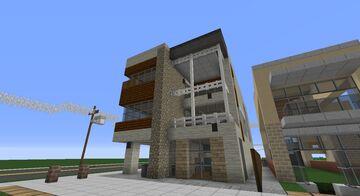 Greenfield - Modern townhouse, Mannhattan Beach style house. Minecraft Map & Project