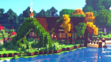 Minecraft: How to Build a Cottage Survival Base | Cottagecore/Fairycore Minecraft Map & Project