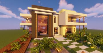 Modern House # 110 (Map + Schematic) Minecraft Map & Project