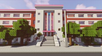Elmore Jr. High School from The Amazing World of Gumball [1.16] Minecraft Map & Project