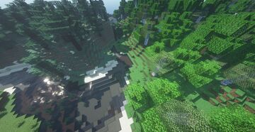 Seed: Three Different Types of Trees at Spawn Minecraft Map & Project