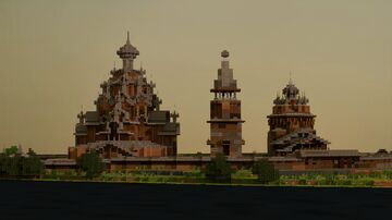 Kizhi Pogost, Republic of Karelia, Russia on 1:1 scale Minecraft Map & Project