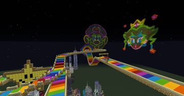 N64 Rainbow Road Minecraft Map & Project