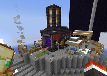 TerraTown II - Event Outpost on PhoenixAnarchy (1.17 Anarchy Server) - Fraternity, VenomForce, Templars Minecraft Map & Project
