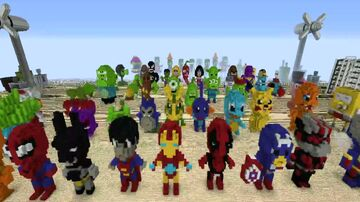 Super Heroes AVENGERS POKEMONS LEGO Minecraft Map & Project