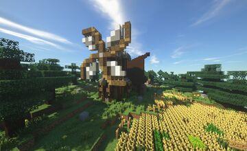Rustic Farm House w/ Windmill Minecraft Map & Project