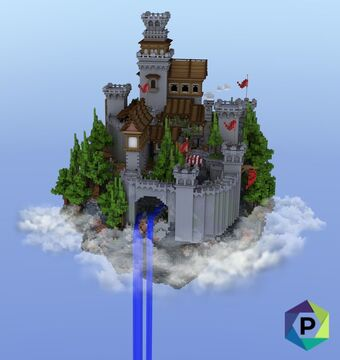 Floating Castlegrounds Hub | 1.8+ Minecraft Map & Project