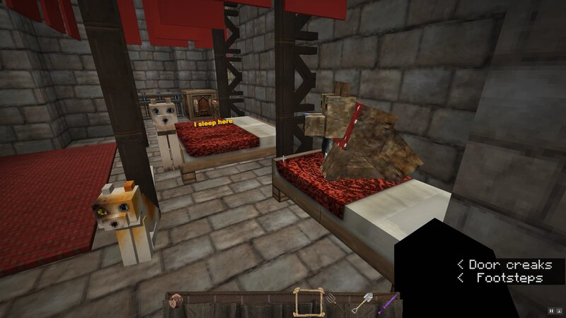 Bedroom for me and Hans with a few more servants' beds