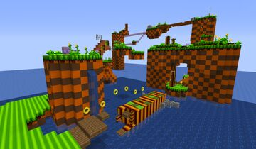 Green hill zone WIP map for SONIC the HEDGEHOG server Minecraft Map & Project