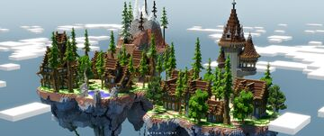 Medieval Town in Floating Island Minecraft Map & Project