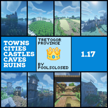 Tretogor Province - Medieval World With 15+ Locations In 1.17 Minecraft Map & Project