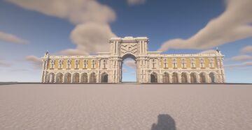 Lisboa Commerce Square Minecraft Map & Project