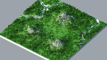 Plains - 2000x2000 | Landscape map 1.12 - 1.16 | Bedrock support Minecraft Map & Project
