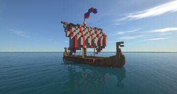 """Medieval Ship Longship/Drakkar """"Frostbryter"""" & """"Hammerslag"""" Minecraft Map & Project"""