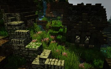 [1.14.3] Raven's Cliffs Medieval Town - Downstream Houses #weareconquest Minecraft Map & Project