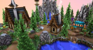 HCF Spawn + Road ~ Forest 153x153 Minecraft Map & Project