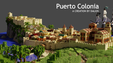The attack on Puerto Colonia | Buccaneer Bay Build Contest Entry Minecraft Map & Project