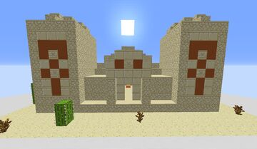 Omega Desert Temple Build Minecraft Map & Project