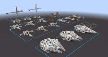 Star Wars - Light Side Ship Pack | World File Minecraft Map & Project