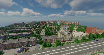 Poltava 1 to 1 scale - Полтава в масштабе 1 к 1 (TeamCIS | СНГ - Build the Earth) Minecraft Map & Project