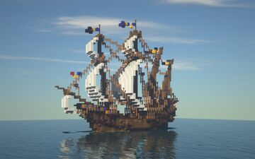 "Medieval Ship | Large Carrack ""Reiksland"" Minecraft Map & Project"