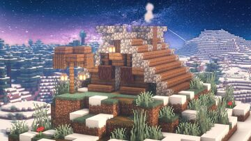 Minecraft | Best Small Viking House Idea | How to Build a Small Viking House Tutorial Minecraft Map & Project