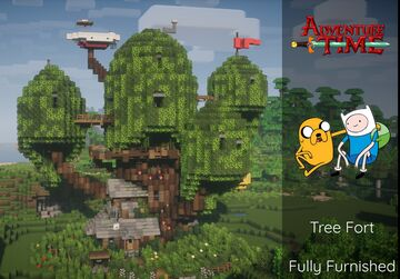 Adventure Time Tree House (Tree Fort) Minecraft Map & Project