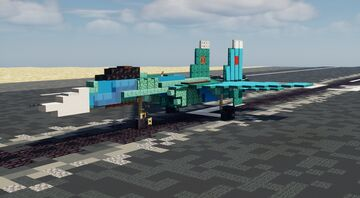 """Su-27 """"Flanker"""" - 1.5:1 Scale Minecraft Map & Project"""