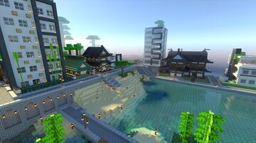 Modern town Realm ready, Minecraft Bedrock Minecraft Map & Project