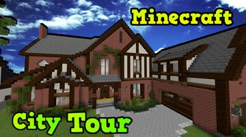 Minecraft Amazing Neighborhood world +tour Minecraft Map & Project