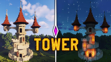 minecraft: best tower (castle tower) Minecraft Map & Project