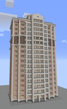 Experimental series of brick-monolithic houses C-222 Minecraft Map & Project