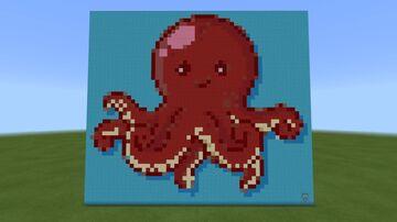 A pixel art Octopus!! Minecraft Map & Project