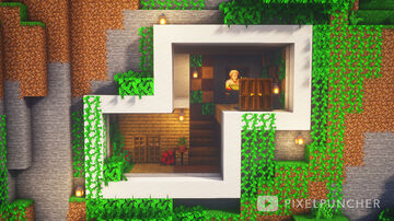 Simple Modern Jungle House Minecraft Map & Project