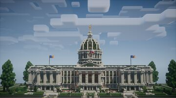 Trident Cliffs City Hall [Trident Capitol Building] [Download, No Mods] Minecraft Map & Project