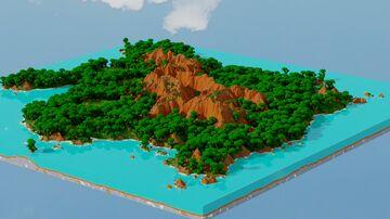 Jungle Island - custom map - 1.5k by 1.5k Minecraft Map & Project