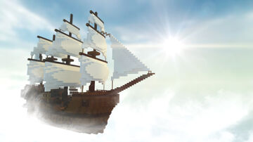 Flying Pirate Ship Minecraft Map & Project