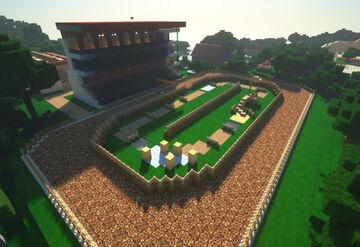 Ippodromo con rimessa Minecraft Map & Project
