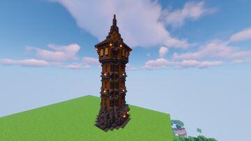 Mediaval Tower Schematic [.schem] Minecraft Map & Project