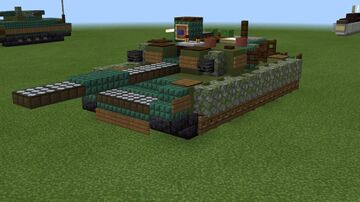 1.5:1 scale T-84 Oplot-M Minecraft Map & Project